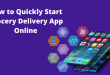 How to Quickly Start Grocery Delivery App Online