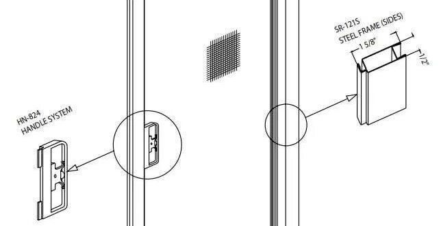 Adjusting Sliding Screen Door