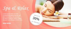 Beauty Salon and Spa Banner Template Design